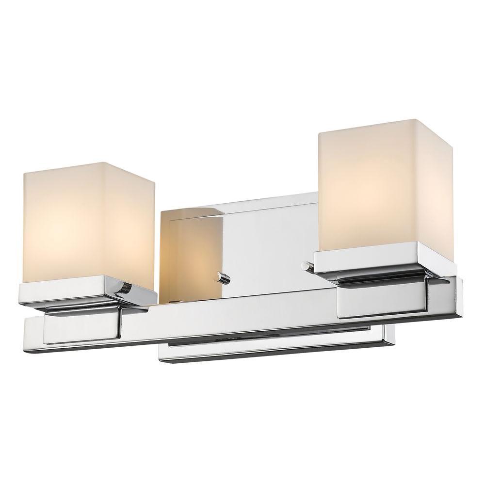 Mera 2-Light Chrome Bath Vanity Light