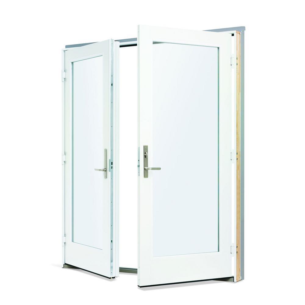 Andersen 72 In X 80 In 200 Series Fiberglass White Inswing Hinged Patio Door 9180302 The Home Depot