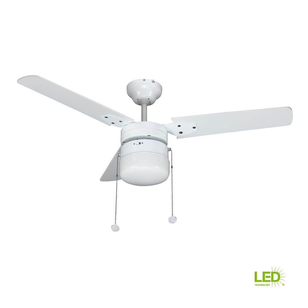 Montgomery 42 In. LED Indoor White Ceiling Fan With Light