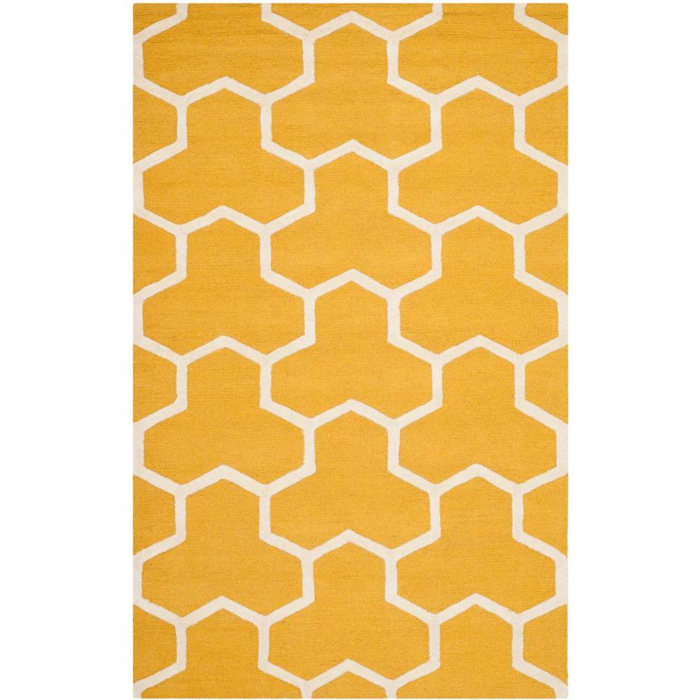 Cambridge Gold/Ivory 3 ft. x 5 ft. Area Rug