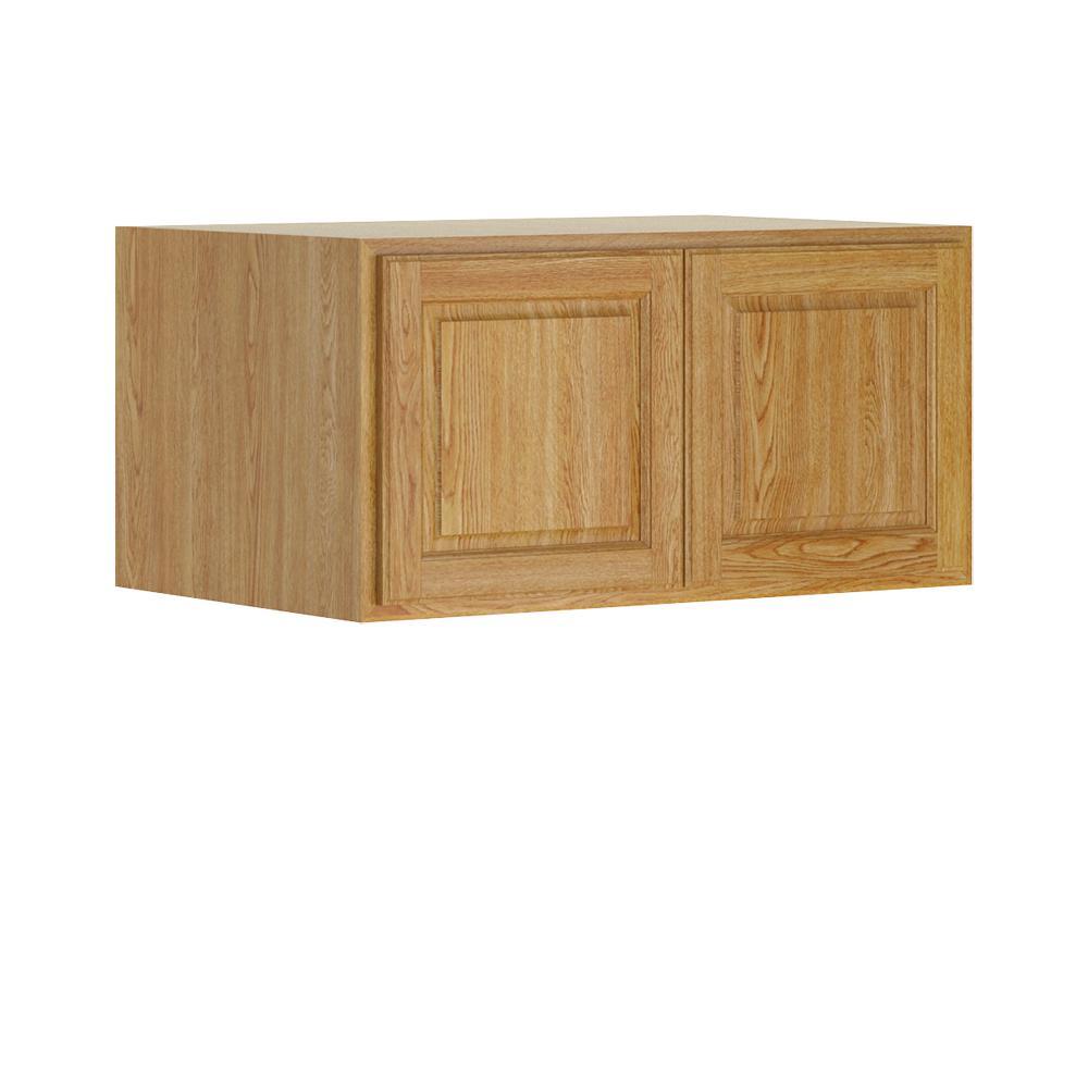 Madison Base Cabinets In Medium Oak: Hampton Bay Madison Assembled 36x18x24 In. Wall Deep