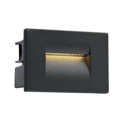 1 -Light Graphite Grey Outdoor Integrated LED Wall Mount Sconce