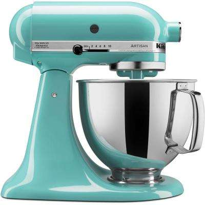 Artisan 5 Qt. 10-Speed Tilt-Head Aqua Sky Stand Mixer