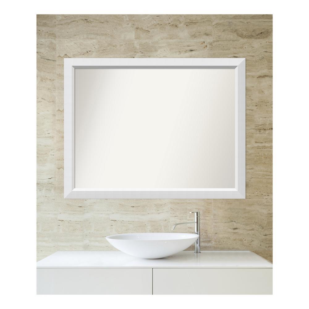amanti art choose your custom size 31 in x 40 in blanco white wood rh homedepot com