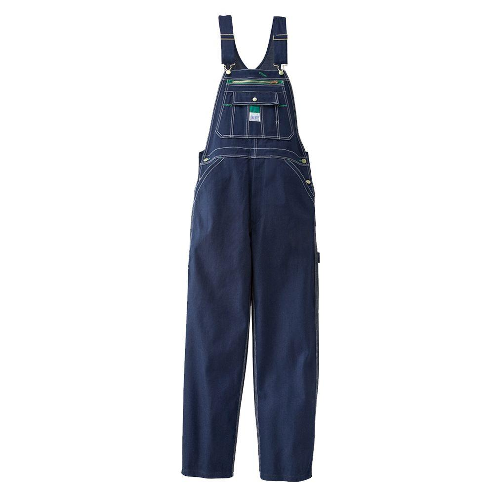 Liberty 34 in. x 32 in. Rigid Denim Bib Overall in Dark Blue