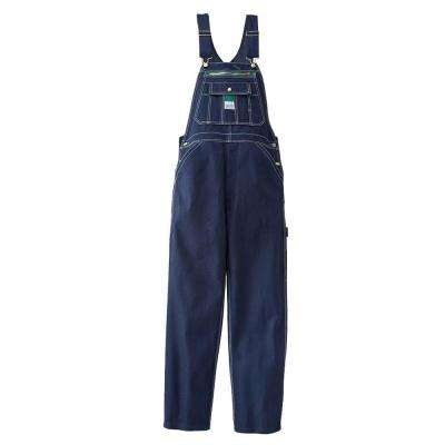 58 in. x 30 in. Rigid Denim Bib Overall in Dark Blue
