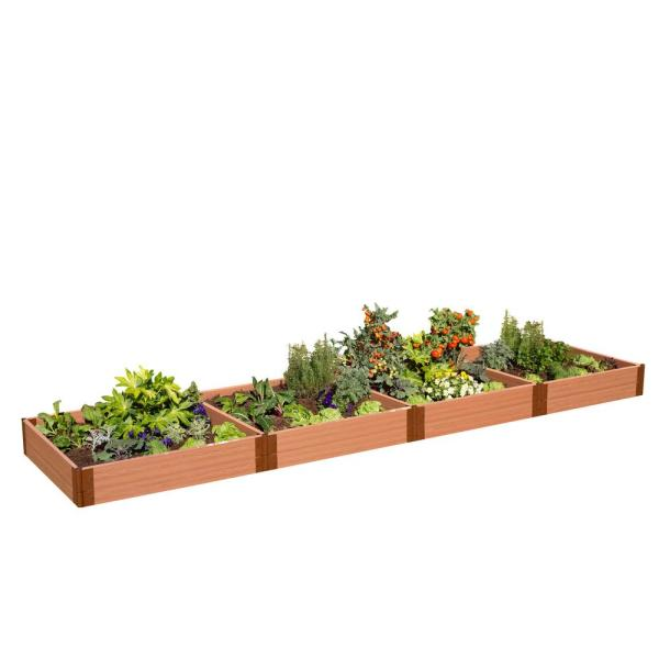 Two Inch Series 4 ft. x 16 ft. x 11 in. Classic Sienna Composite Raised Garden Bed Kit