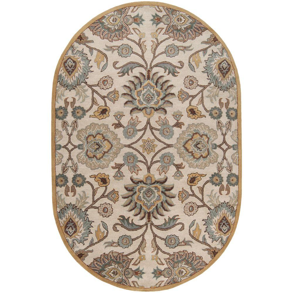 Artistic Weavers Cambrai Taupe 6 Ft. X 9 Ft. Oval Indoor