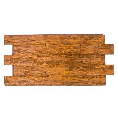Time Weathered Faux Rustic Panel 1-1/4 in. x 48 in. x 23 in. Honey Pine Polyurethane Interlocking Panel