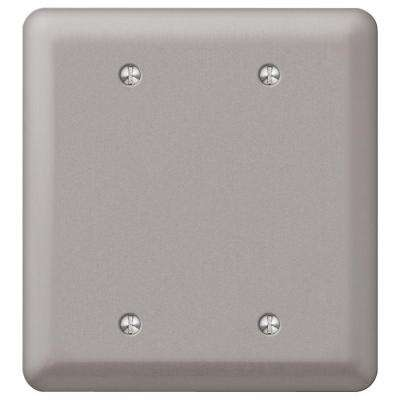 Devon 2-Gang Blank Wall Plate - Pewter