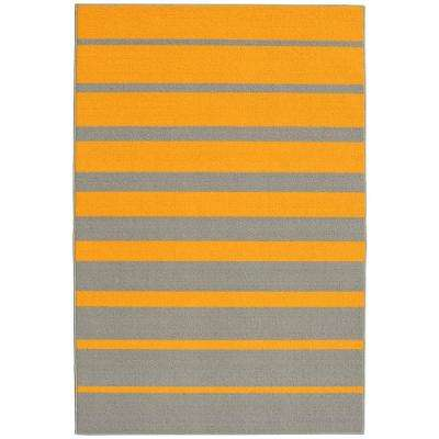 Stair Steps Yellow Gold/Silver 5 Ft. X 7 Ft. 5 In.