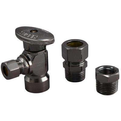 1/2 in. FIP x 3/8 in. OD Brass Quarter Turn Angle Valve in Venetian Bronze Lead Free