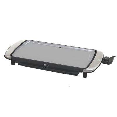 DuraCeramic 200 sq. in. Black Titanium Electric Griddle with Warming Tray