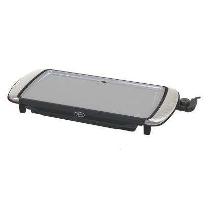 10 in. x 20 in. Titanium Infused DuraCeramic Electric Griddle with Warming Tray