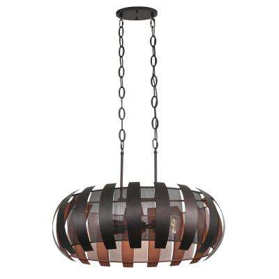 Sawyers Bar 6-Light 2-Tone Copper Ore Linear Pendant