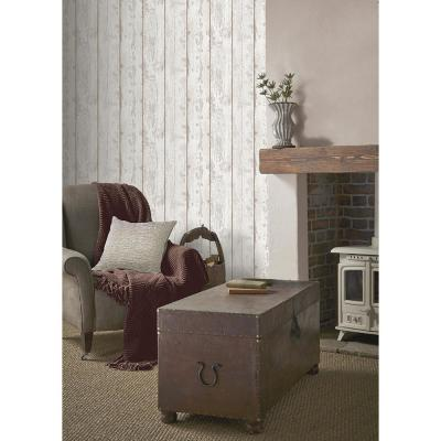 White Washed Wood Wallpaper