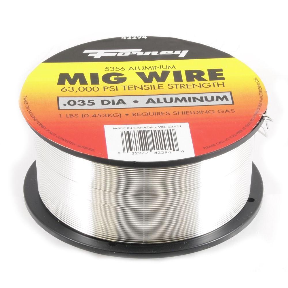 0.035 Dia 5356 Aluminum Alloy MIG Wire 1 lb. Spool