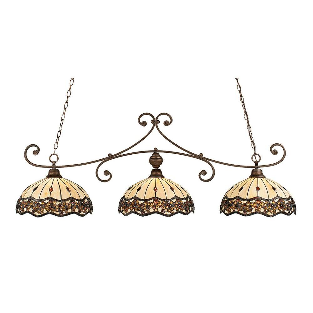 Concord 3-Light Bronze Island Pendant