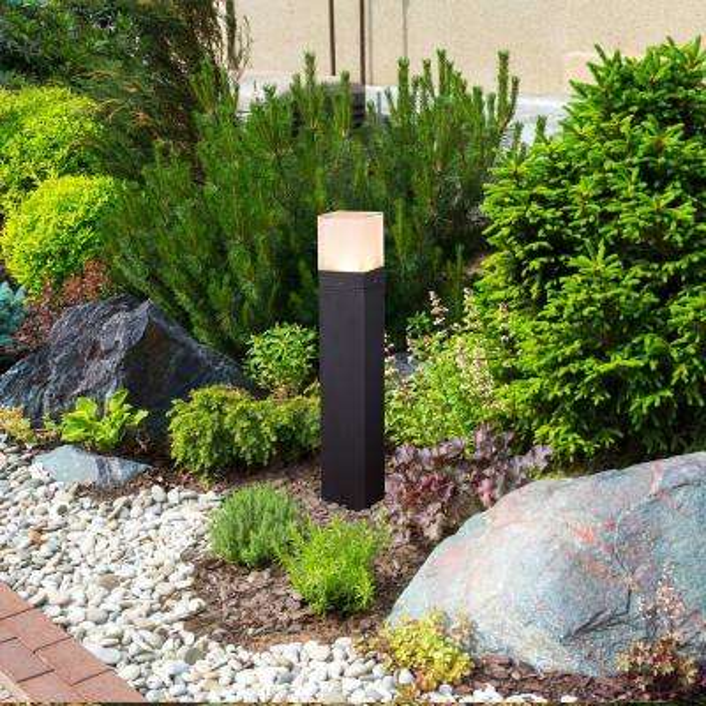 10-Watt Black Outdoor Integrated LED Bollard Landscape Path Light