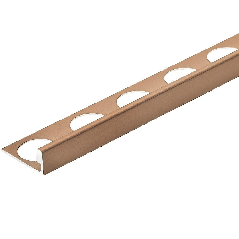 Copper Anodized 3/8 in. x 98-1/2 in. Aluminum L-Shaped Tile Edging