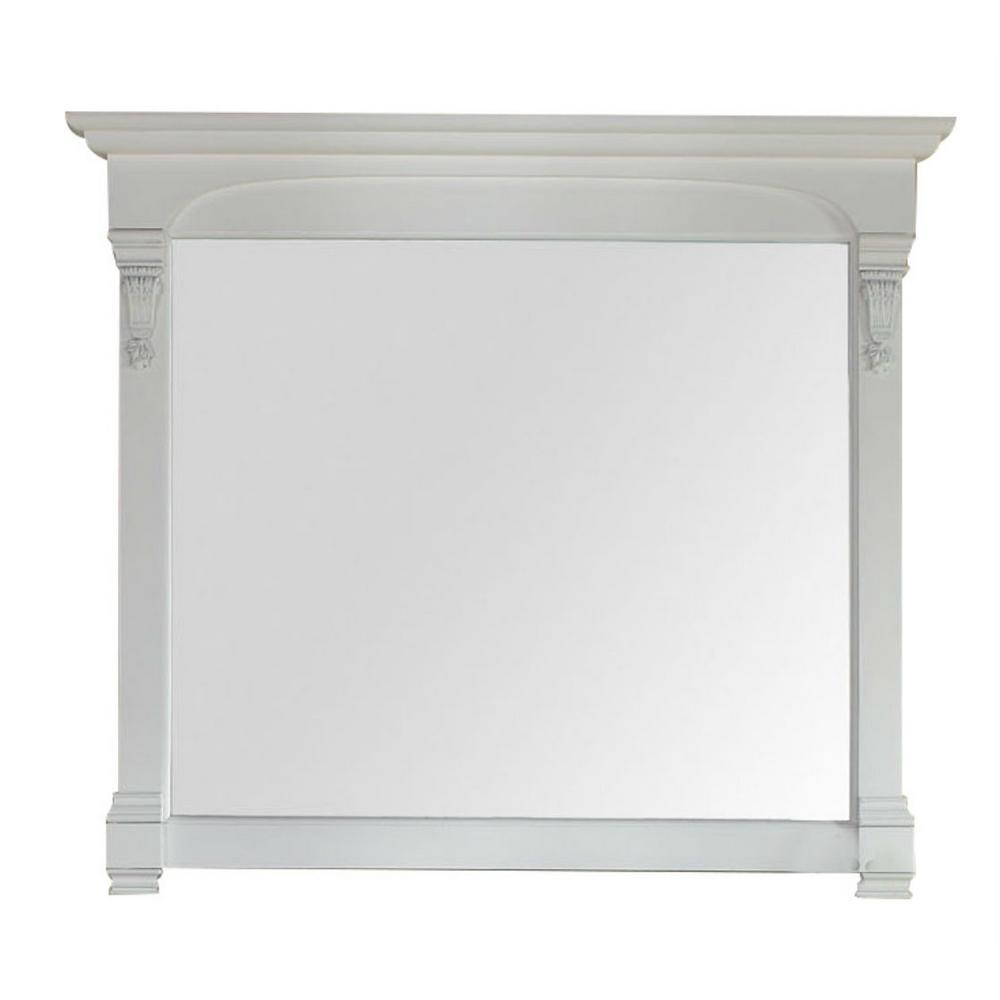 James Martin Signature Vanities Brookfield 47 in. W x 42 in. H Framed Wall Mirror in Cottage White