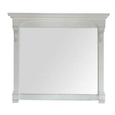 Brookfield 47 in. W x 42 in. H Framed Wall Mirror in Cottage White