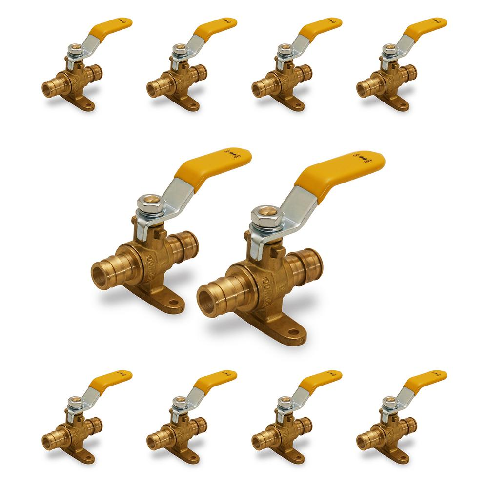 PEX A PIPE LEAD FREE 5 PCS EXPANSION F1960 PROPEX 3//4 BALL VALVE WITH DRAIN