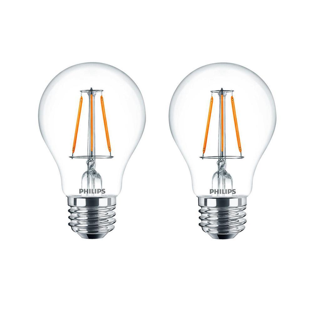 A19 Philips Led Bulbs Light Bulbs The Home Depot