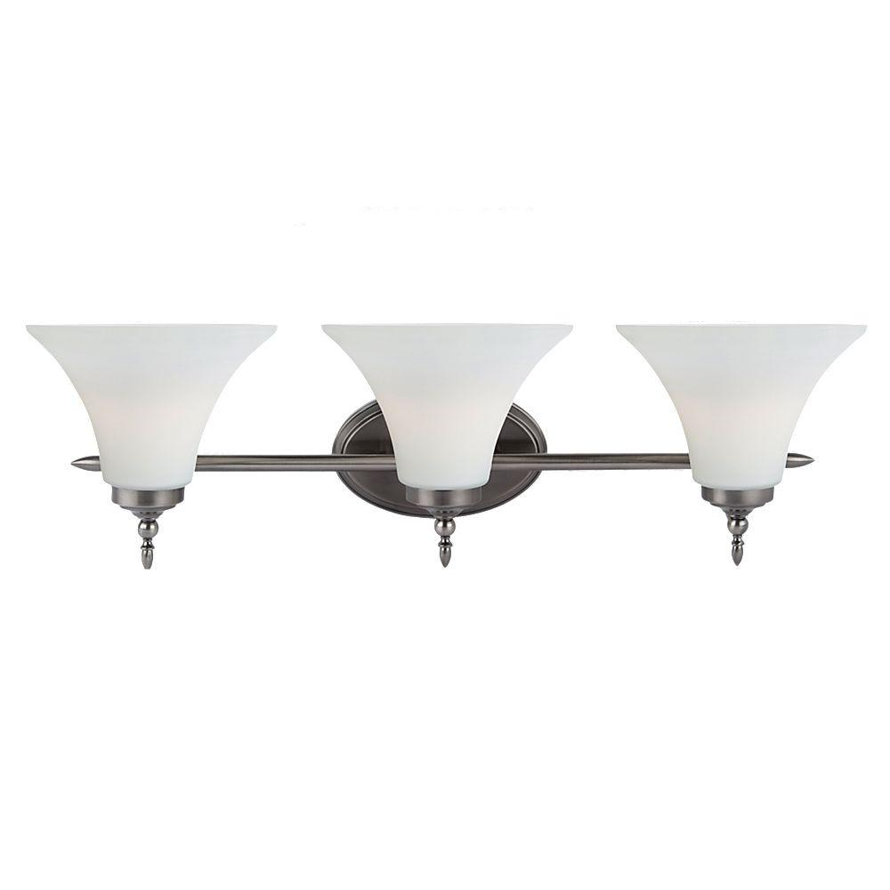 Sea Gull Lighting Montreal 3 Light Antique Brushed Nickel Vanity