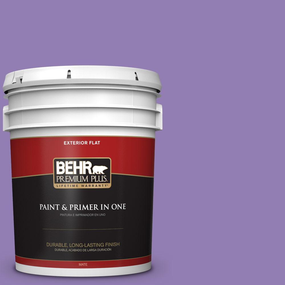 5 gal. #PPU16-04 Purple Agate Flat Exterior Paint