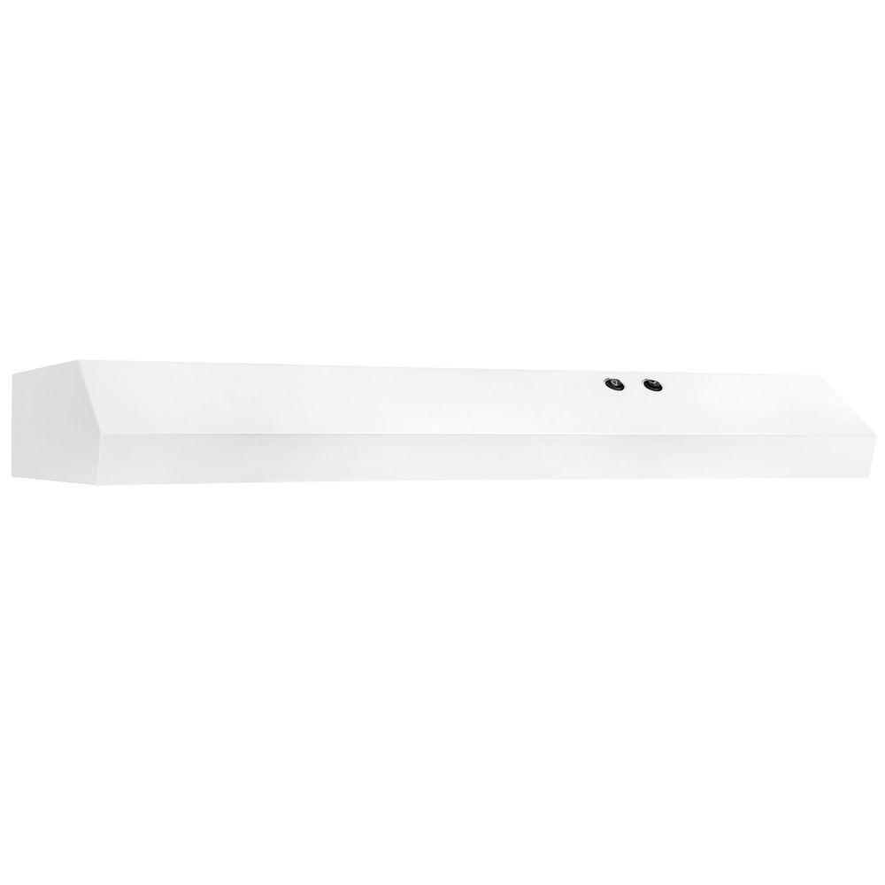 36 in. Under Cabinet Convertible Range Hood in White
