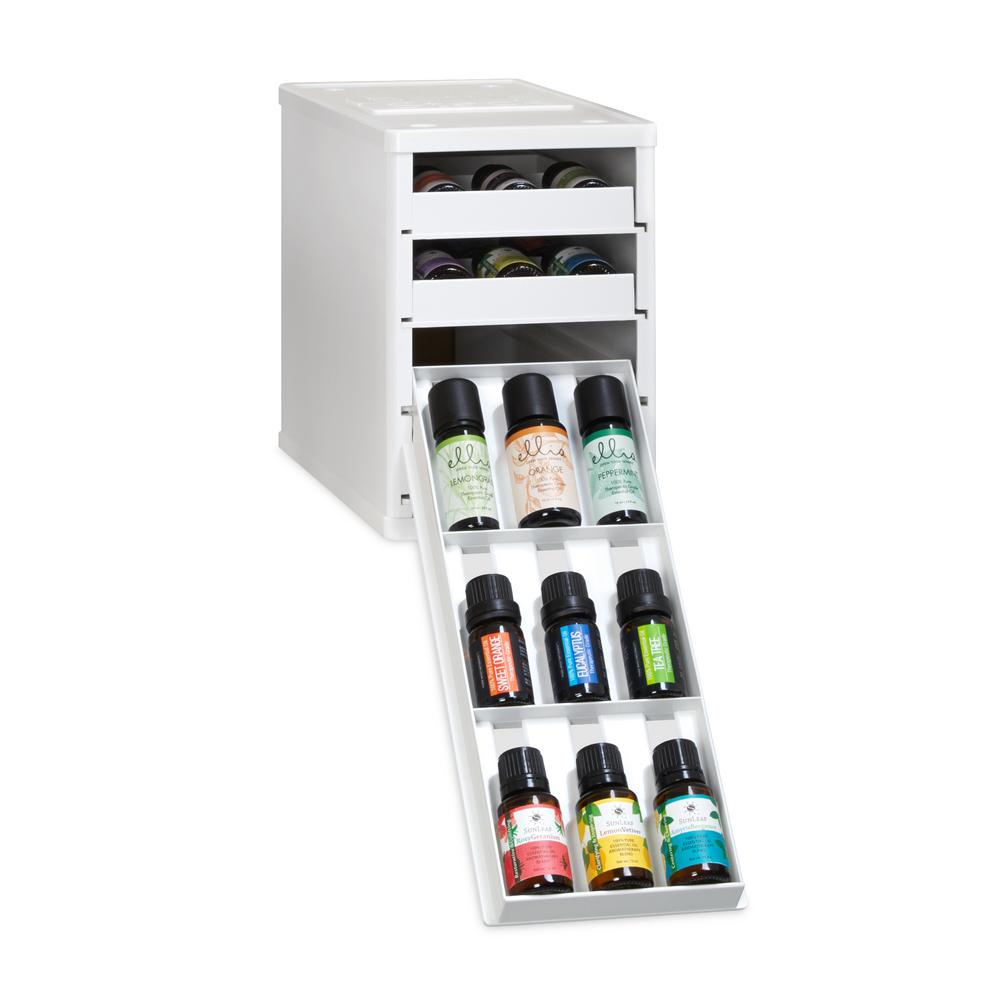 36 Bottle Essential Oil Organizer Storage Cabinet Nail Polish Holder