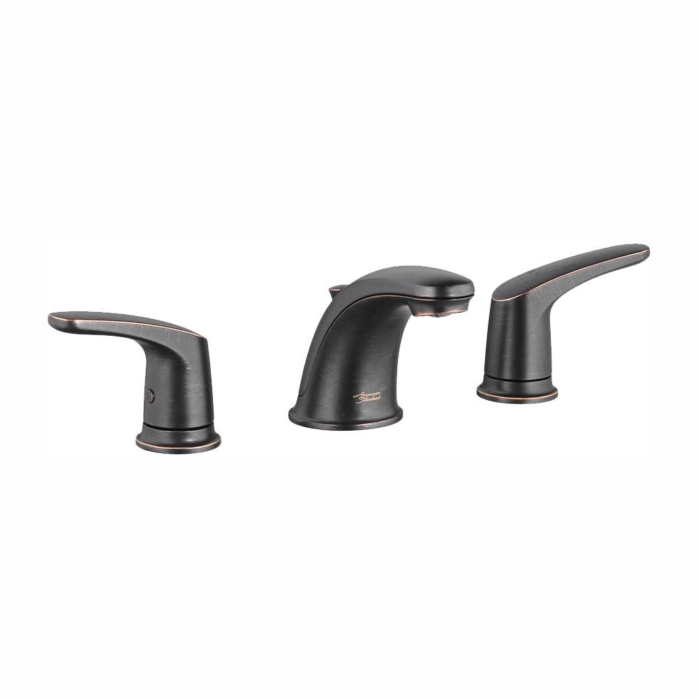 American Standard Colony Pro 8 in. Widespread 2-Handle Low-Arc Bathroom Faucet with 50/50 Pop-Up Drain in Legacy Bronze