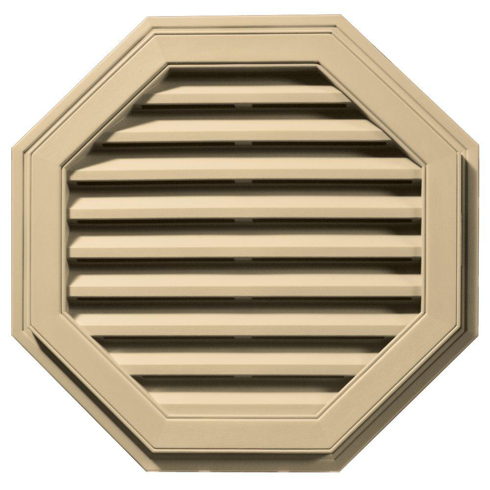 27 in. Octagon Gable Vent in Dark Almond