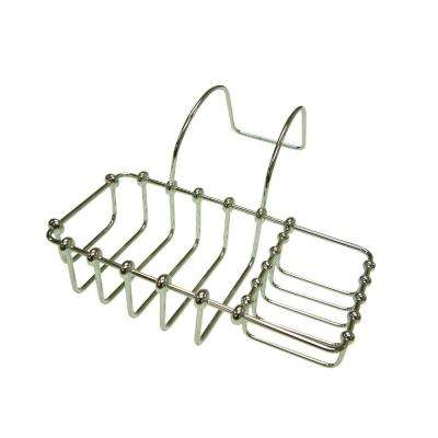 Soap and Sponge Claw Foot Bathtub Caddy in Polished Chrome