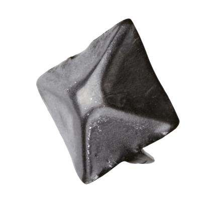 25/32 in. x 25/32 in. Black Zinc Iron Square Nail with 2 Tips
