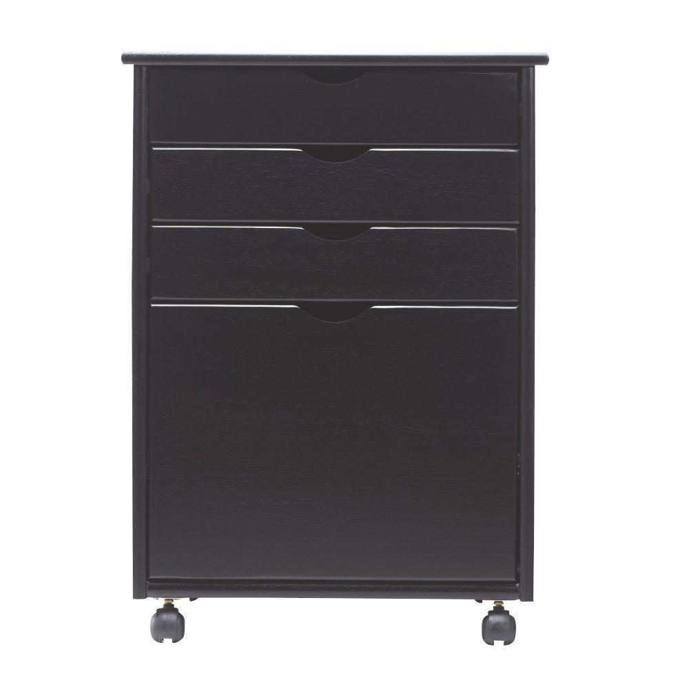 Home Decorators Collection Stanton 20 In. W 4 File Storage Cart In Black