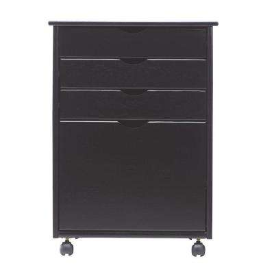 Stanton 20 in. W 4-File Storage Cart in Black