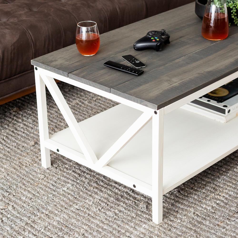 Prime Welwick Designs Grey White Wash Distressed Farmhouse Coffee Machost Co Dining Chair Design Ideas Machostcouk