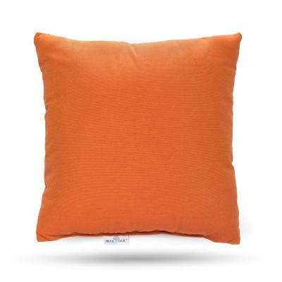 Sunbrella Spectrum Cayenne Square Outdoor Throw Pillow (2-Pack)