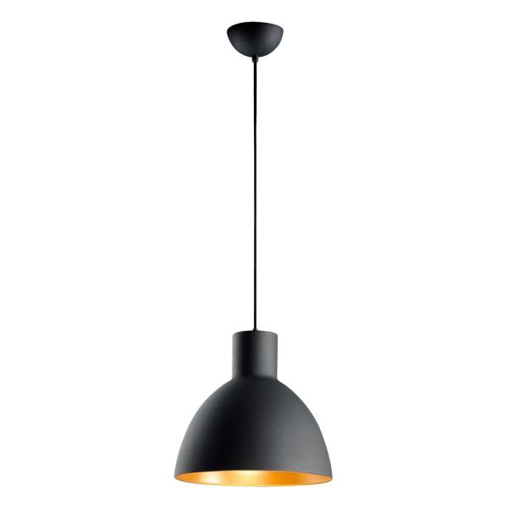 Cora 1-Light Black/Gold Pendant