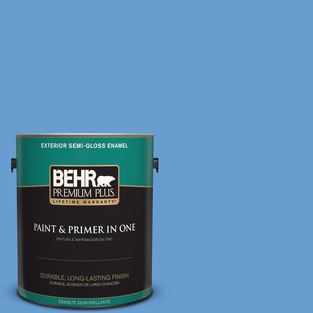 1-gal. #570B-5 Gulf Stream Semi-Gloss Enamel Exterior Paint