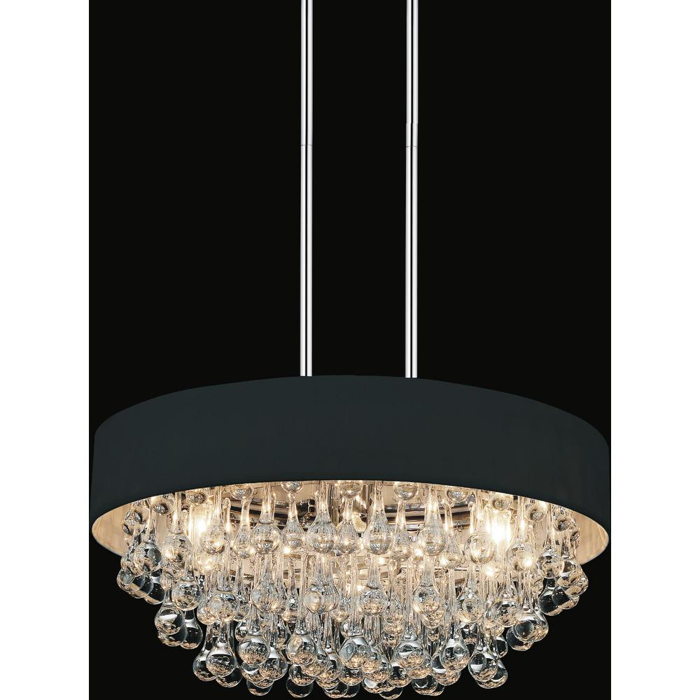 Atlantic 6-Light Chrome Chandelier with Black shade