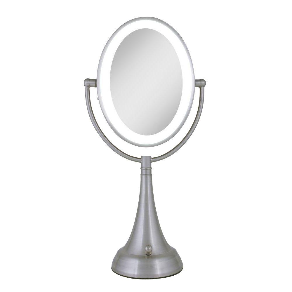 Zadro 9 5 In X 19 In Led Lighted Oval Vanity Mirror In