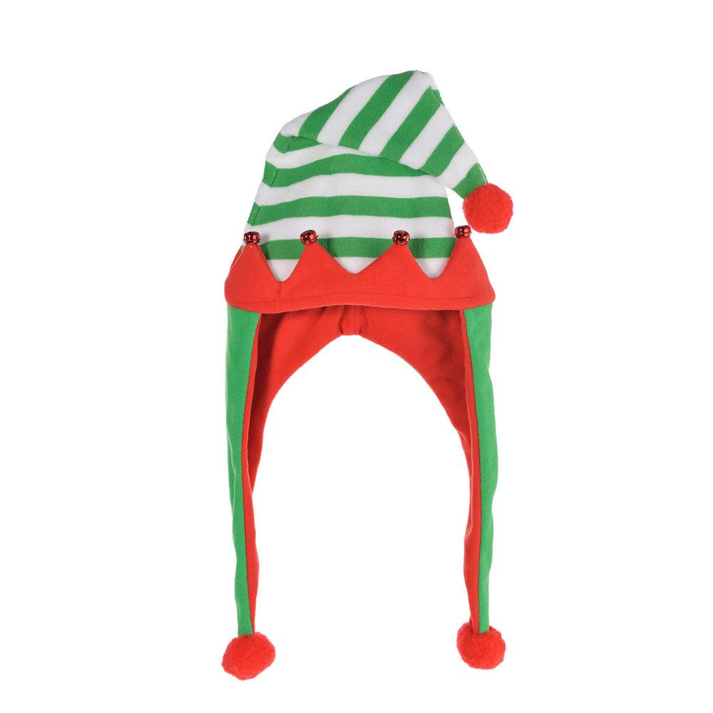 30 in. x 11 in. Elf Christmas Laplander Hat