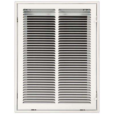 14 in. x 20 in. Return Air Vent Filter Grille with Fixed Blades, White