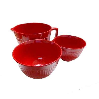 Molded Bamboo 3-Piece Mixing Bowl Set