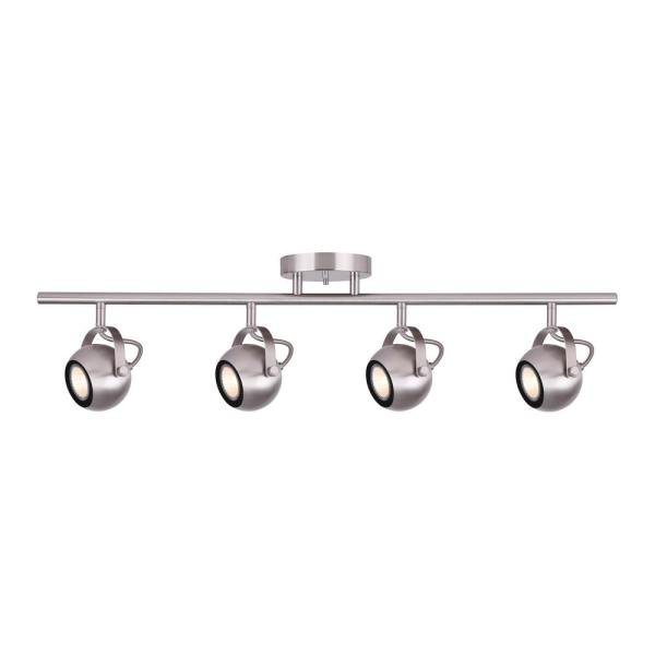 Murphy 2.4 ft. 4-Light Brushed Nickel Halogen or LED Track Lighting Kit