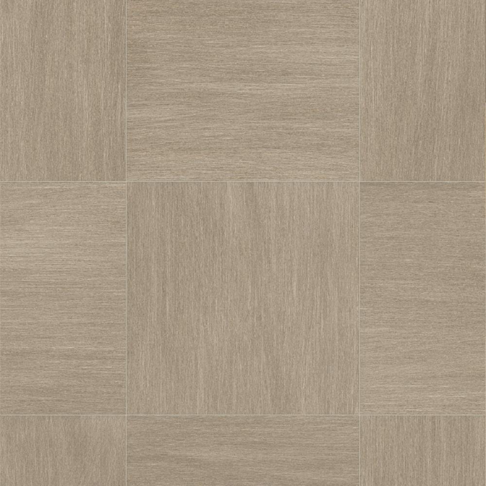 Take Home Sample - Woven Grey Tile Residential Sheet Vinyl Flooring - 6 in. x 9 in.