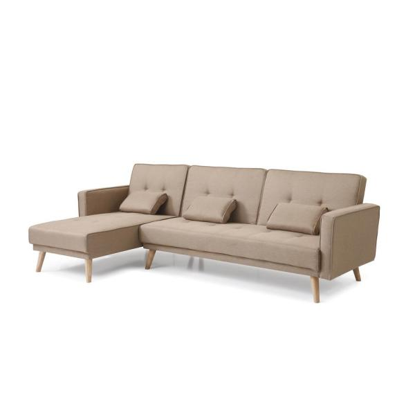 Brown Sectional Sofa Bed Set 73041BR - The Home Depot